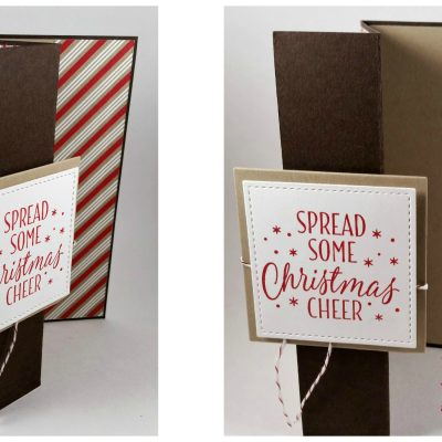 Candy Cane Lane Z Fold Christmas Card