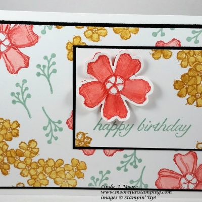 Birthday Blossoms Patterned Paper Birthday Card