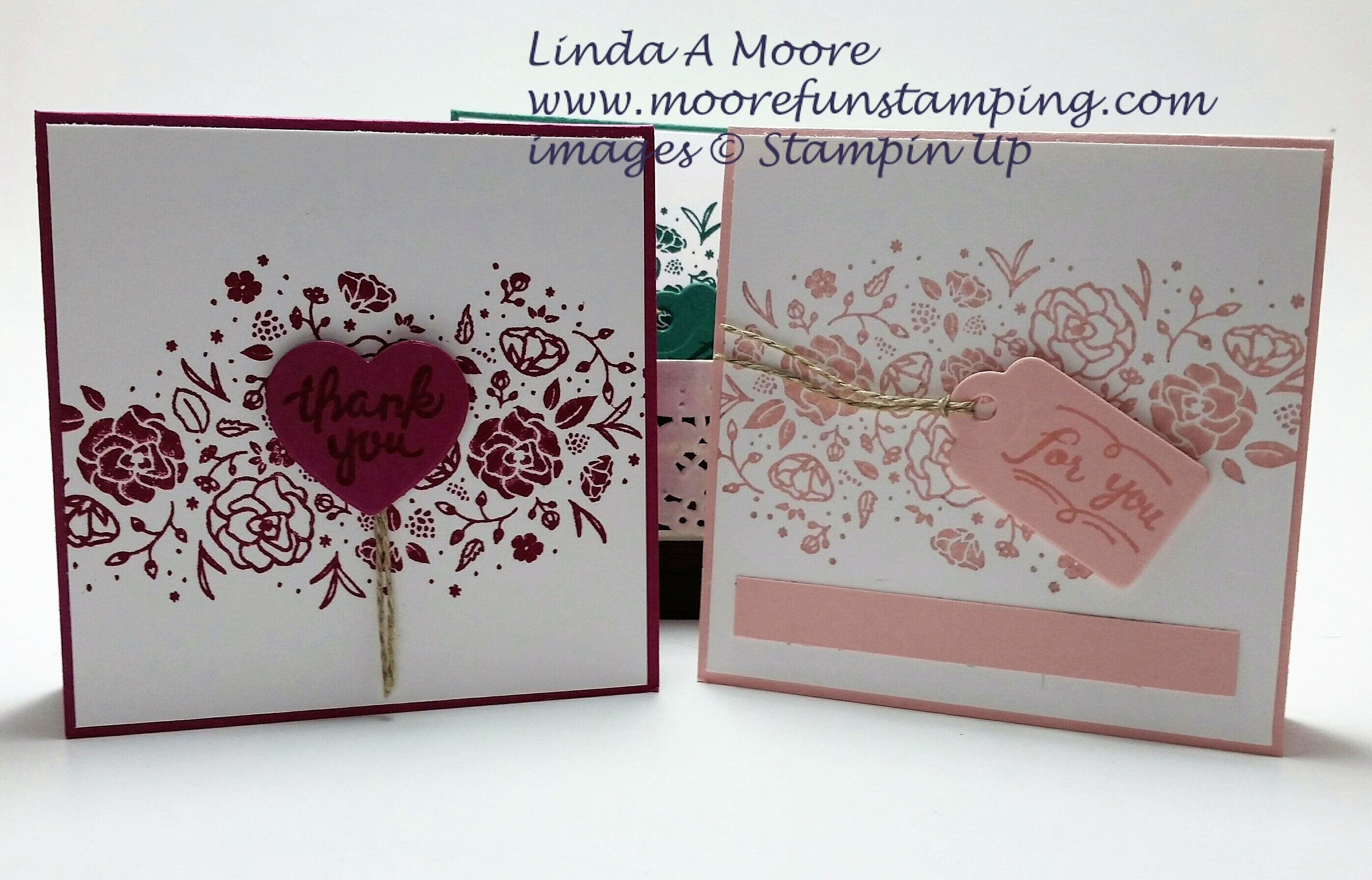 berry burst and powder pink note cards