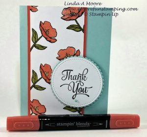 floral card with stampin' blends