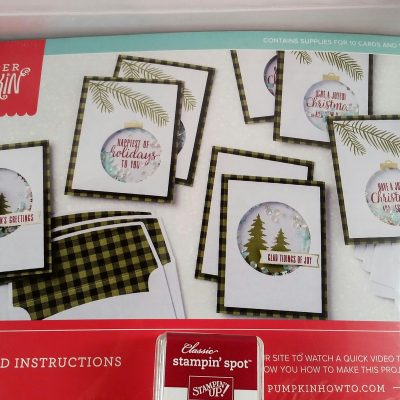 October Paper Pumpkin – Pining for Plaid Christmas cards