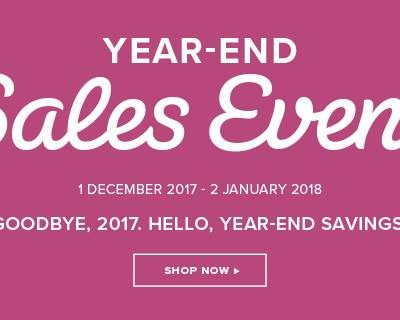 Stampin up Year End Sales Event