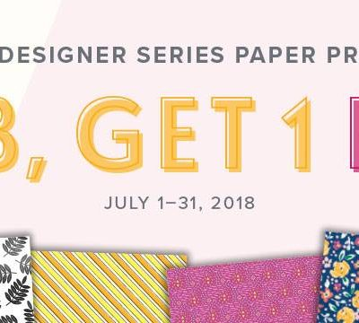Stampin' UP! Designer Series Paper Sale – Buy 3 get 1 Free
