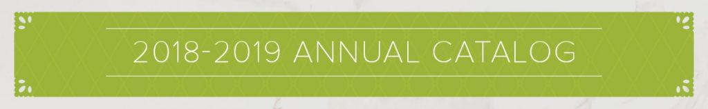 2018-2019 Annual Catalog