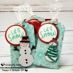 Let it snow gift bag and tags