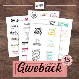 Stampin Up Product Giveback