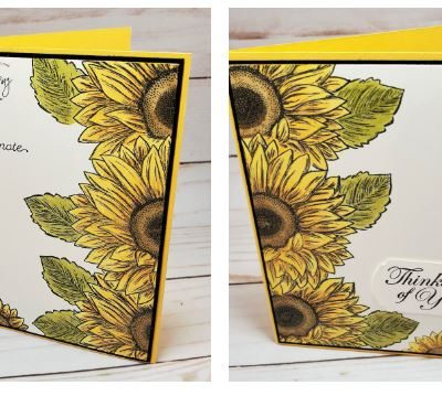 Stampin Up  Celebrate Sunflowers – Split Card Technique