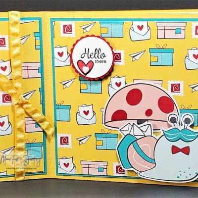 Book Binding Cards – use up your Designer Series Paper