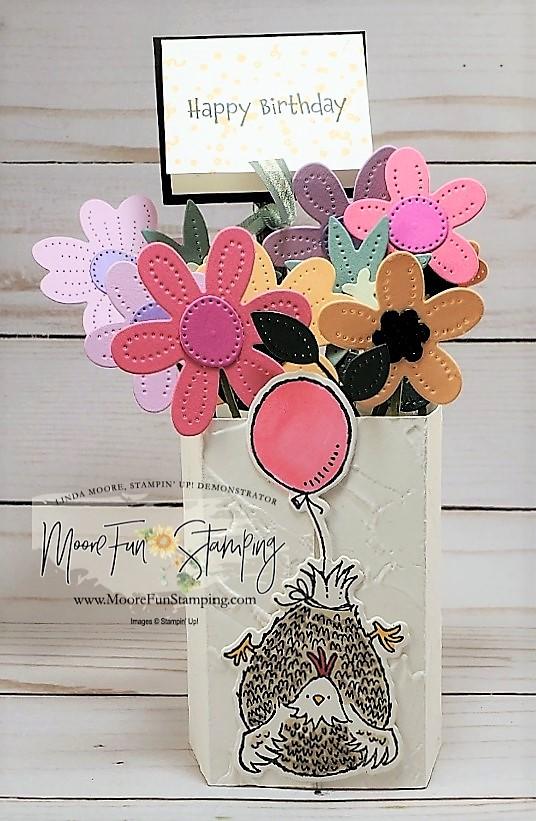 In bloom vase card