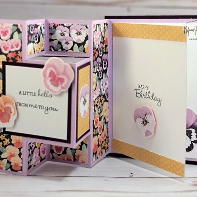 Pansy Patch Pop-Out Card: Ink.Stamp. Share July Showcase blog hop