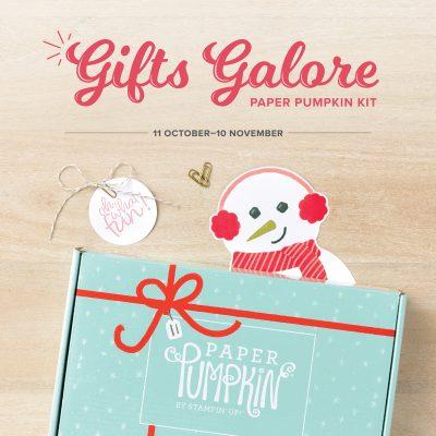 Gifts Galore – November 2021 Paper Pumpkin